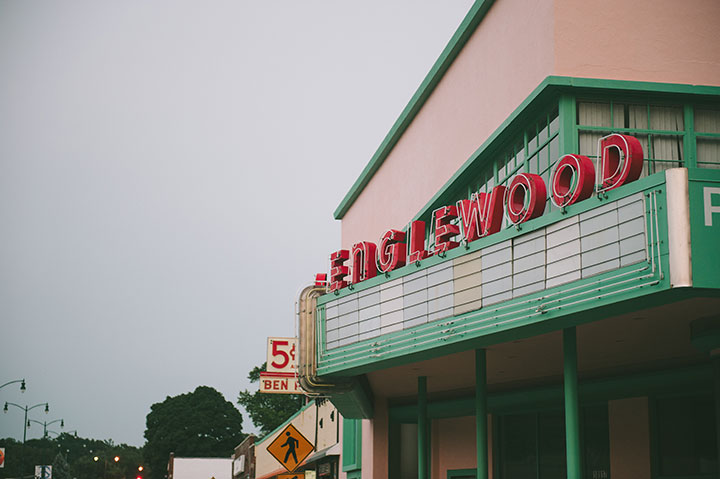 The Englewood Theatre, located in the Englewood Station Arts District in Independence, MO.