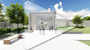 Image links to video fly-through of Truman Library renovation.