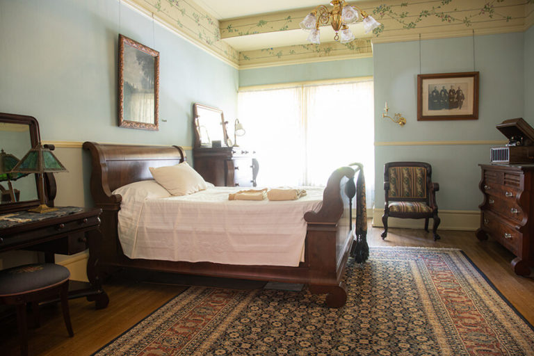 bedroom in the Bingham-Waggoner Estate in Independence, MO