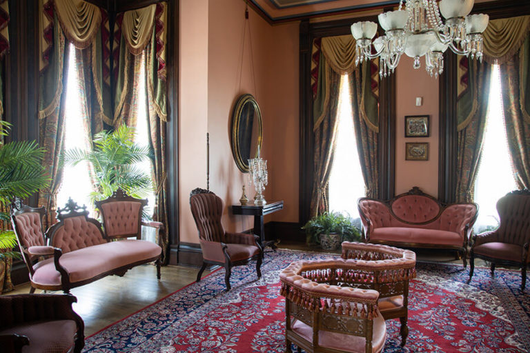 The ladies' parlor in the Vaile Mansion in Independence, MO