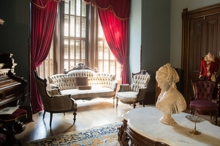 The music room in the Vaile Mansion in Independence, MO