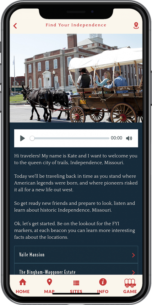 A screenshot of the Find Your Independence app on an iPhone