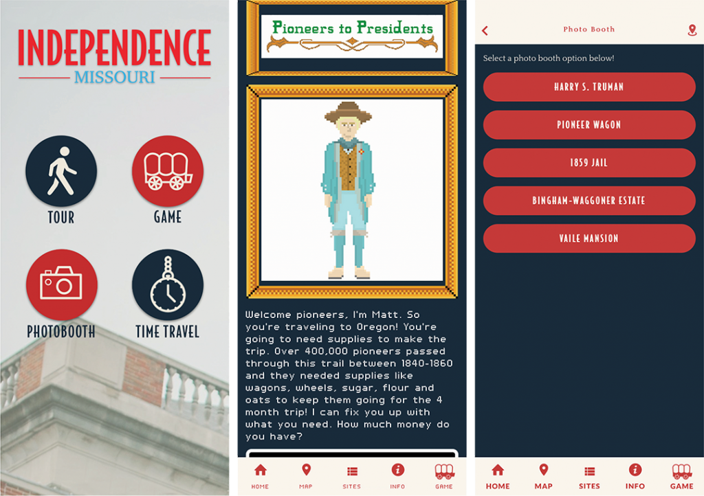 Screenshots of the Find Your Independence app on an iPhone