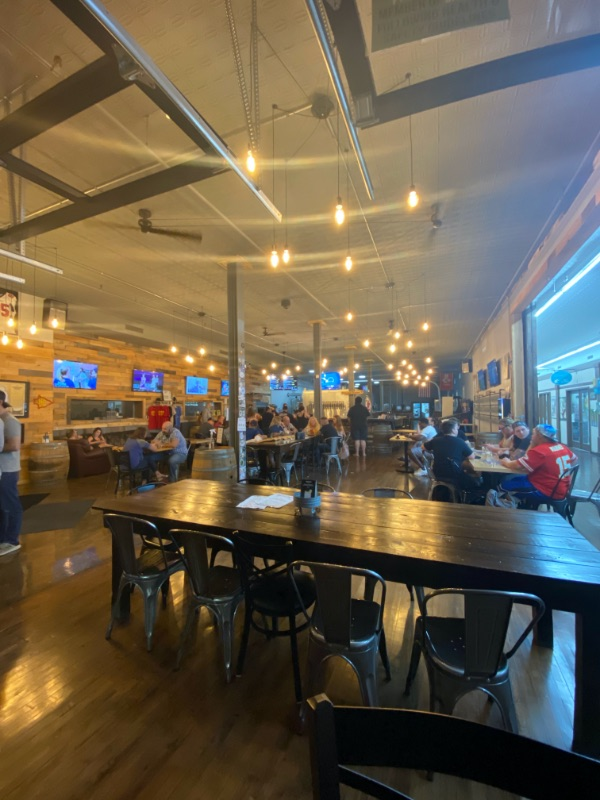 The interior of 3 Trails Brewing on the Historic Independence Square in Independence, MO