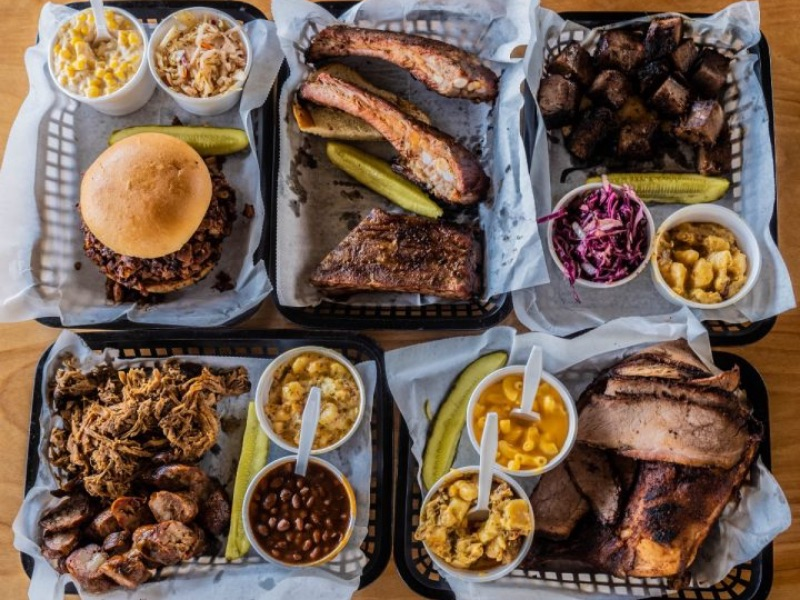 Food from A Little BBQ Joint
