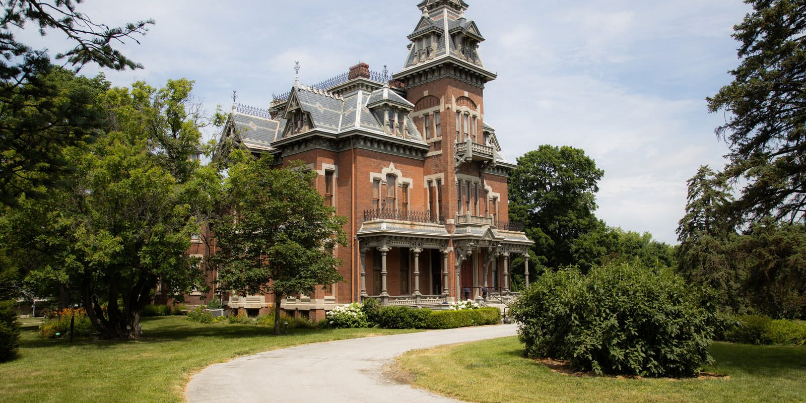 The Vaile Mansion in Independence, MO. A large Victorian Home,