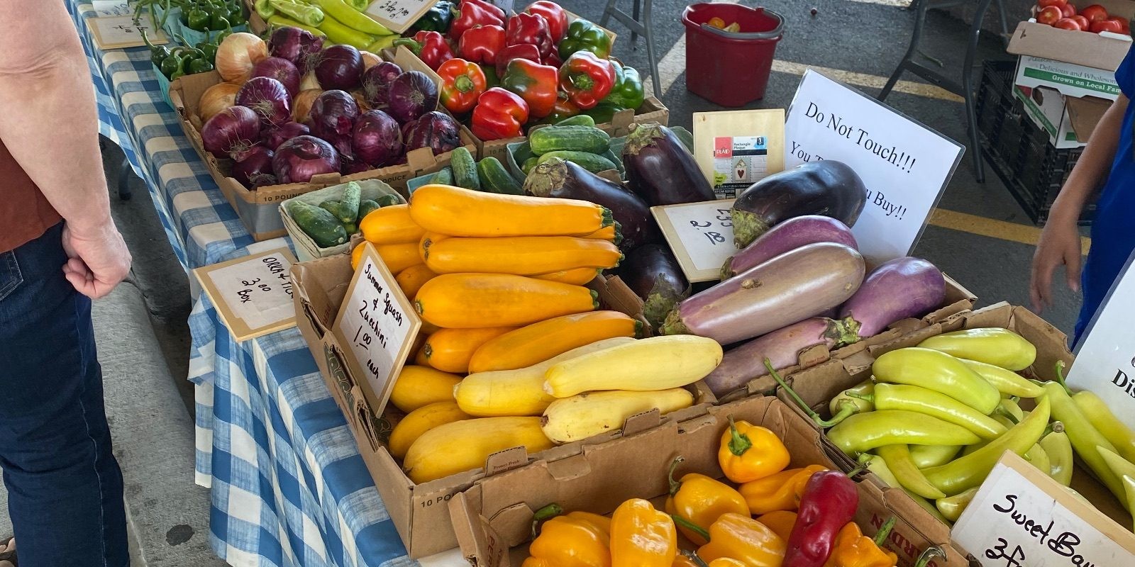 Produce on display at the Uptown Farmers Market in Independence, MO